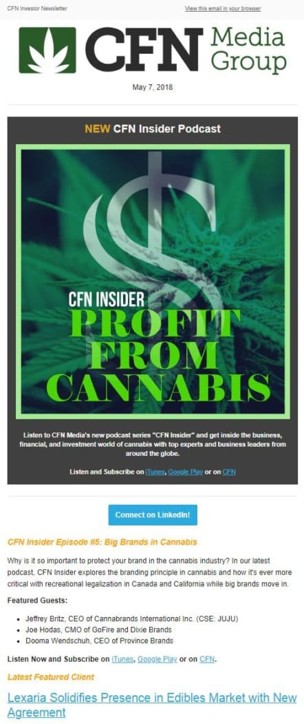 CFNMediaNewsletter | NisonCo - Cannabis Industry Public